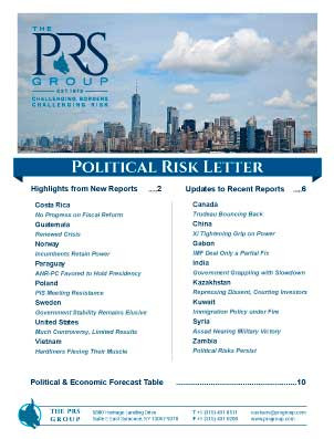 Political Risk Letter